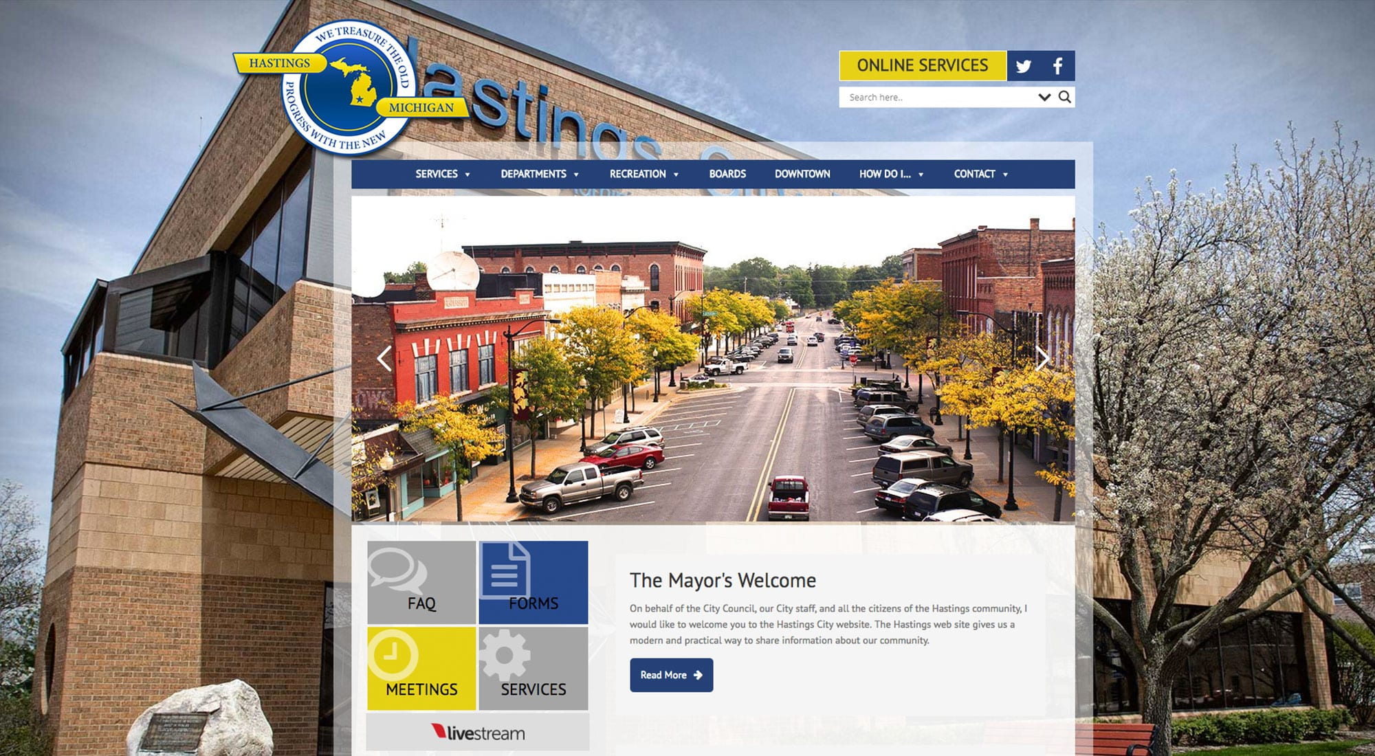 City of Hastings MI Website Designer Pixelvine Creative