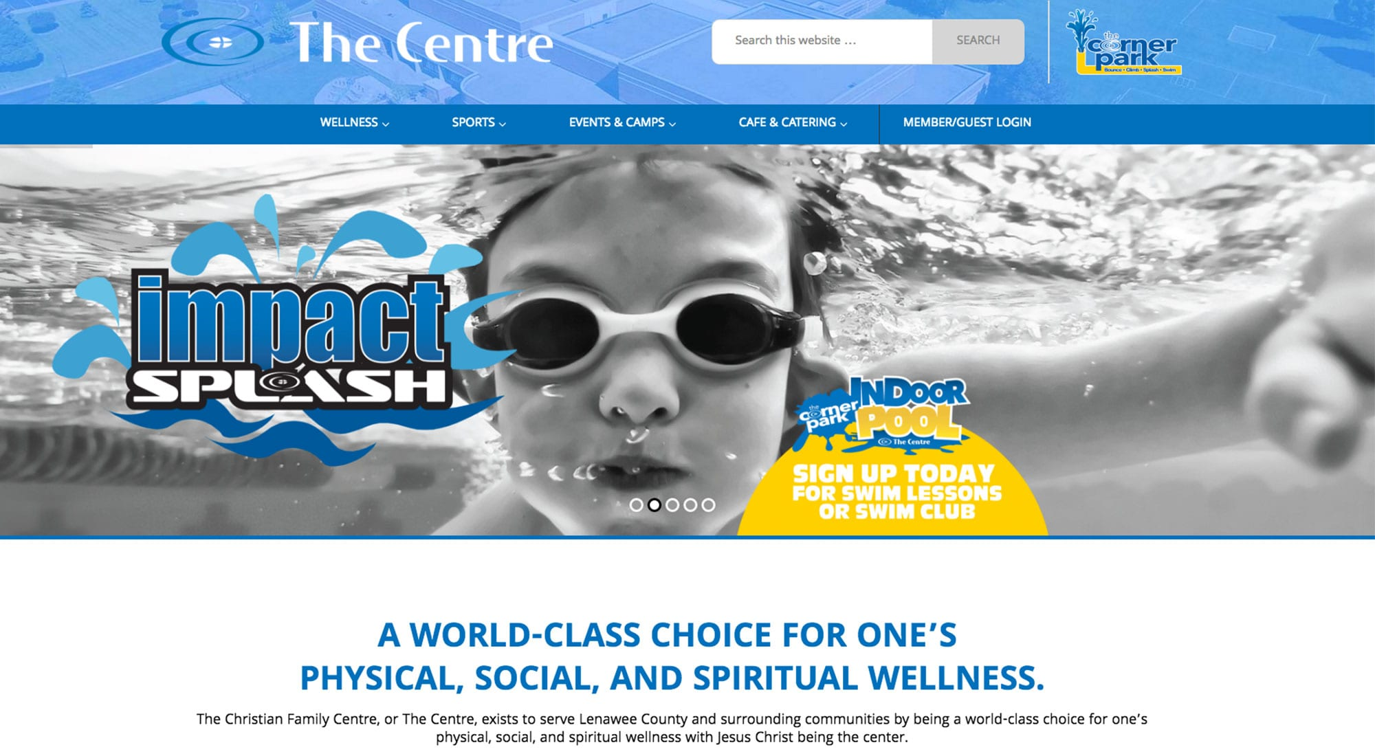Pixelvine Creative Website Design for The Centre in Adrian MI