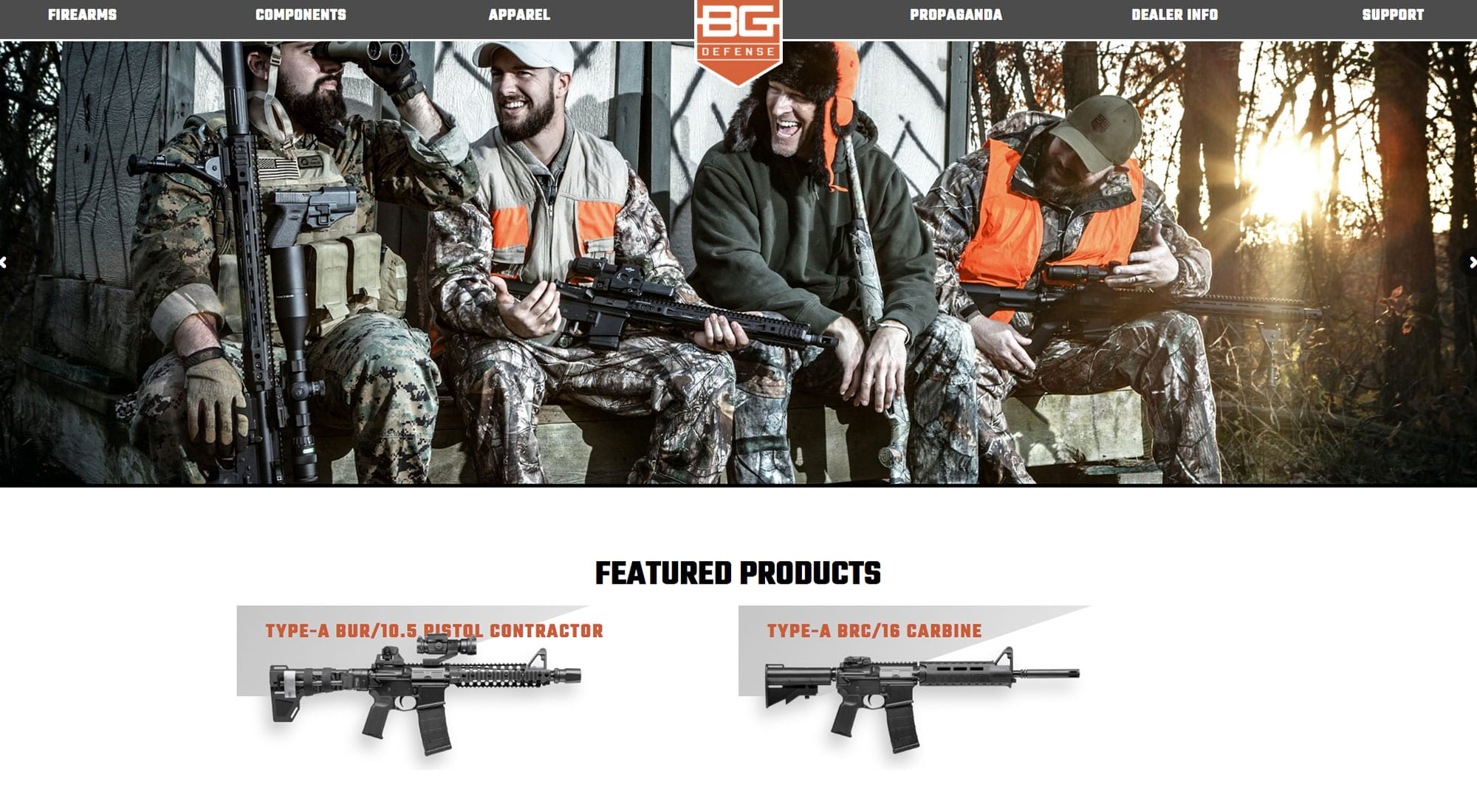 BG Defense Website Design by Pixelvine Creative