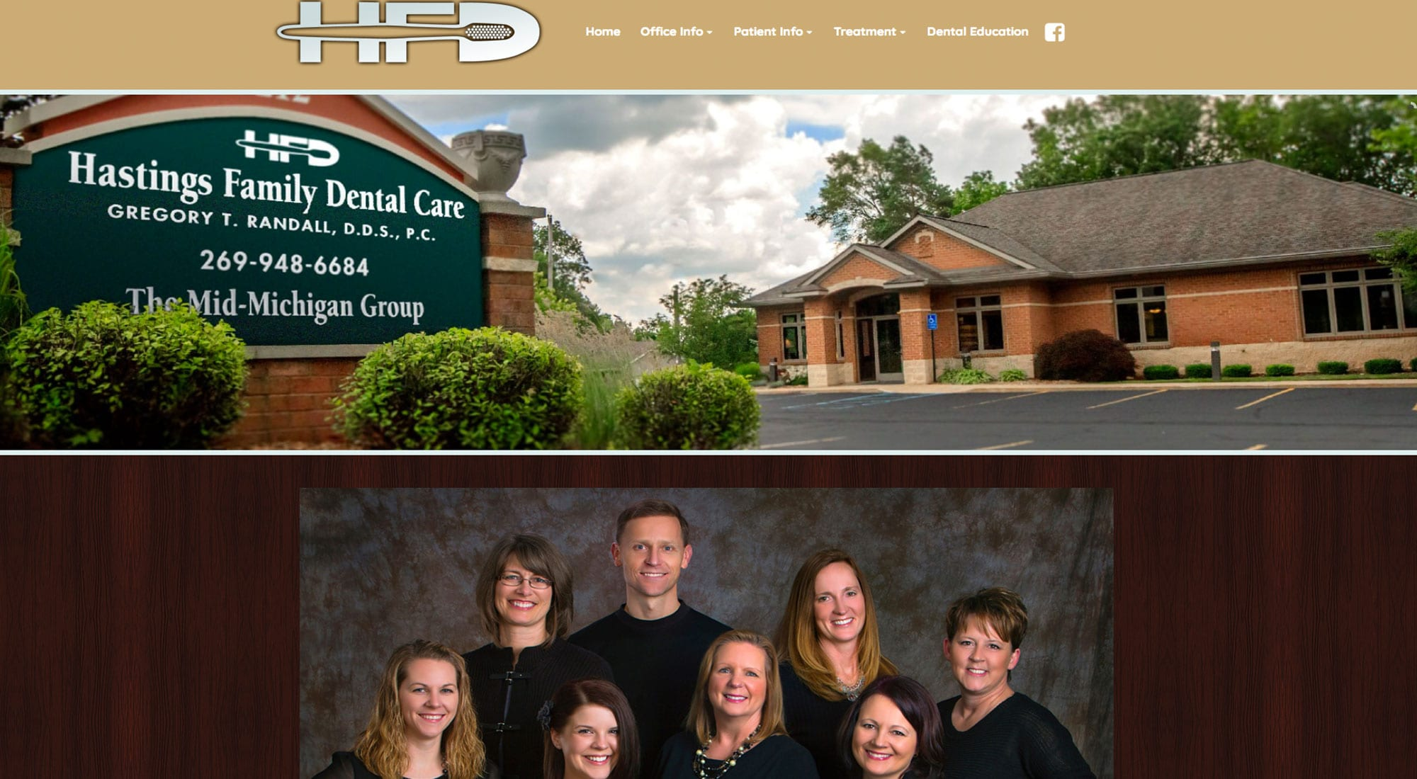 Hastings Family Dental Hastings MI Website Designer Pixelvine