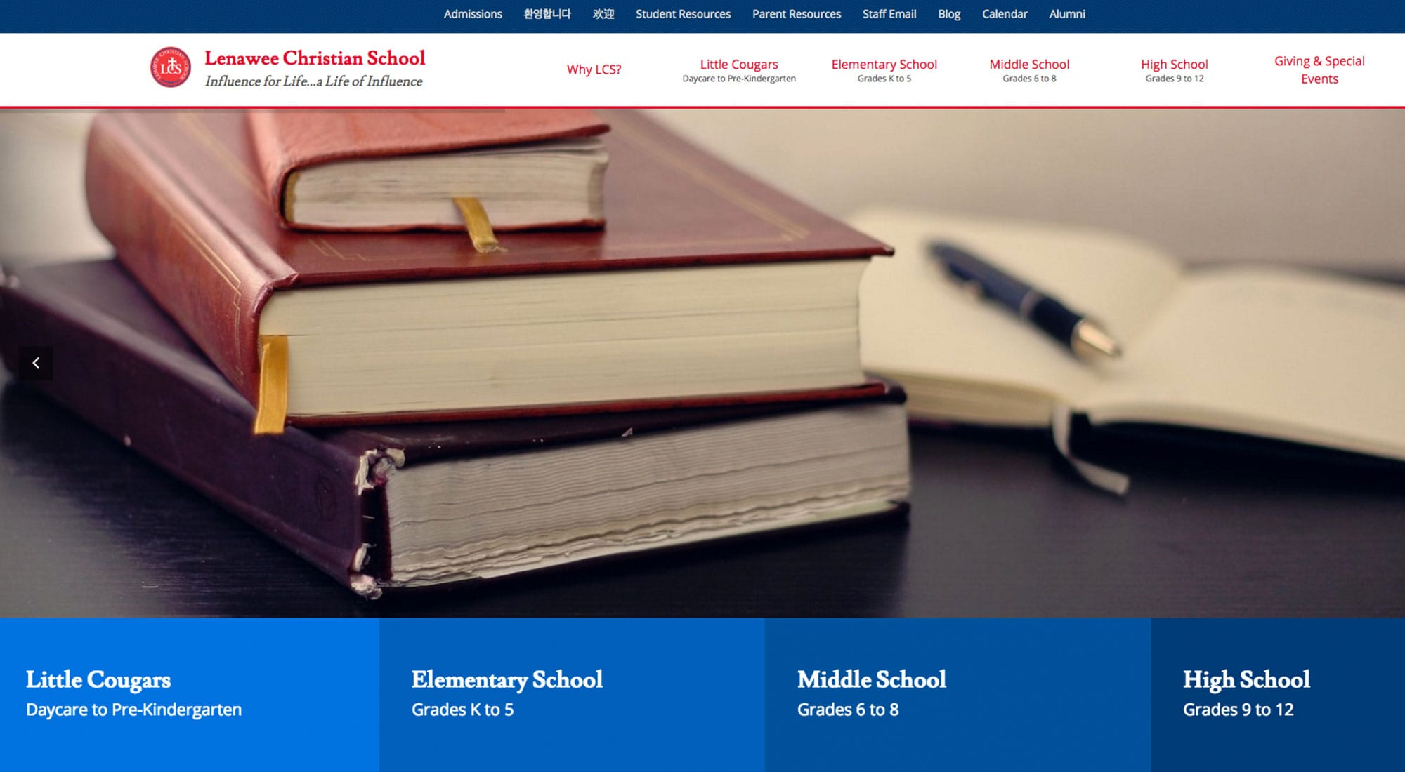 Lenawee Christian Schools Website Design by Pixelvine Creative
