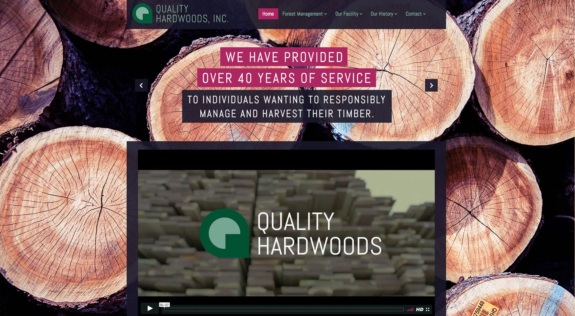 Quality Hardwoods Website Design by Pixelvine Creative