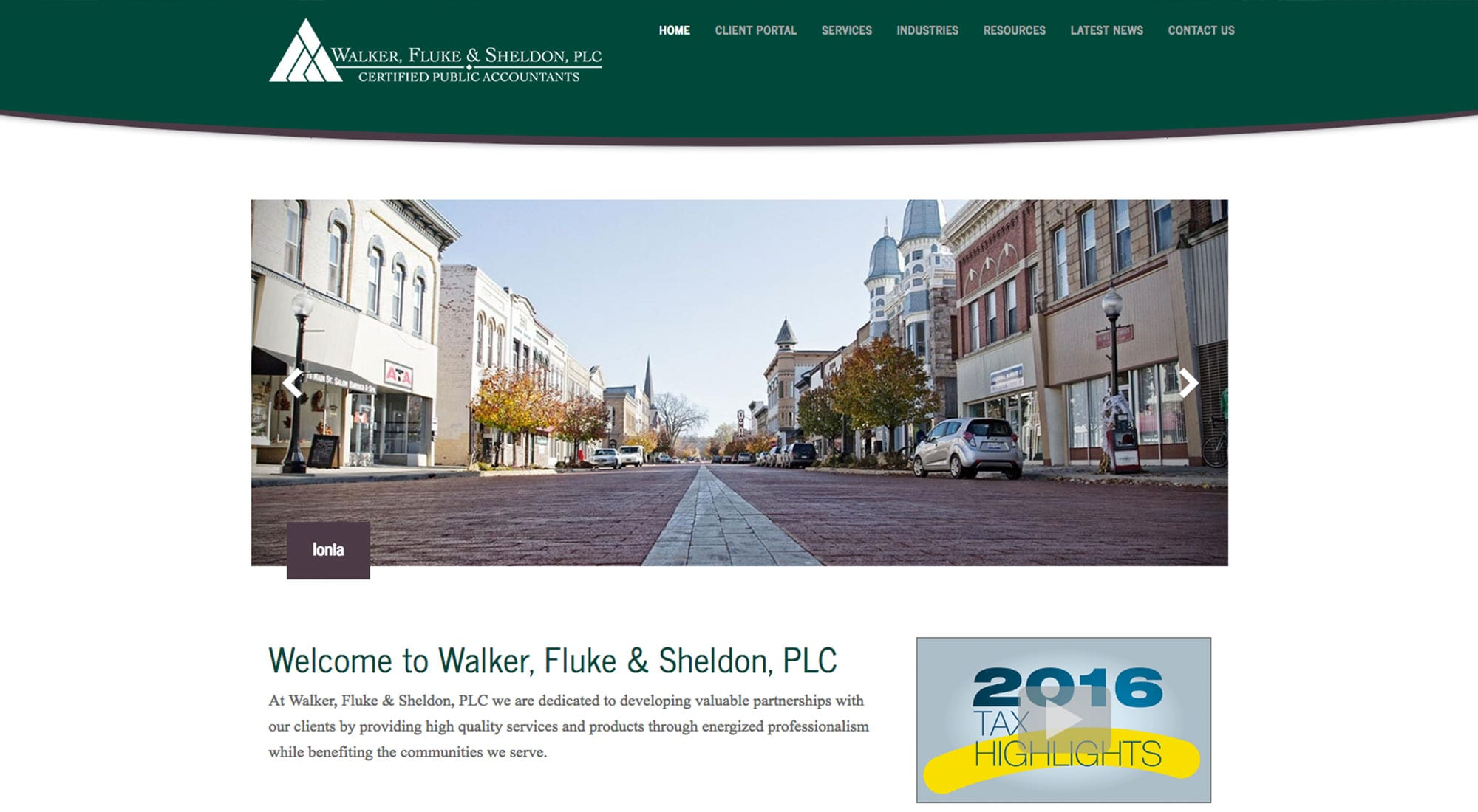 Walker, Fluke & Sheldon Marketing by Pixelvine
