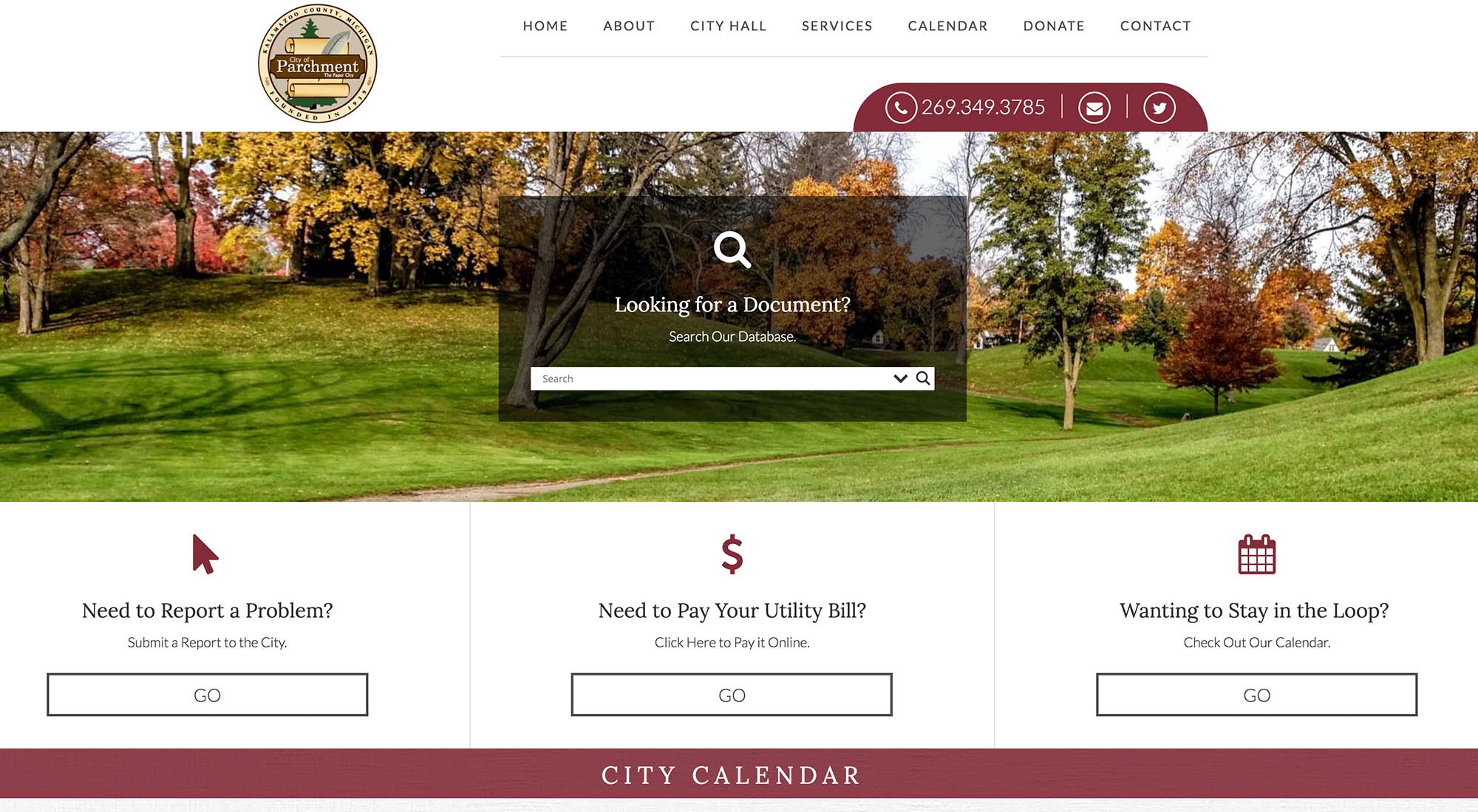 City of Parchment Website Designer Pixelvine Creative