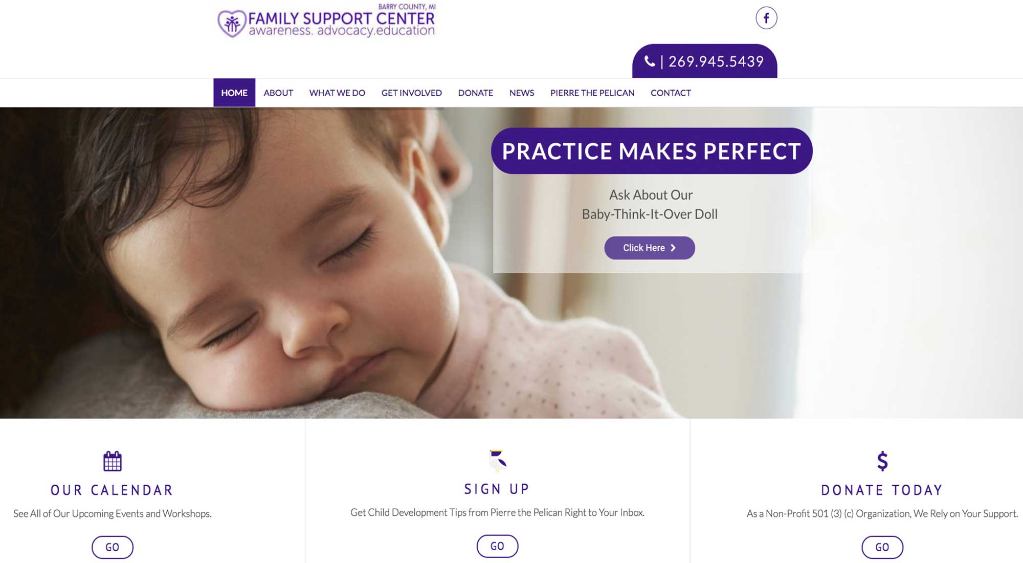 Family Support Center of Barry County MI Website Designer Pixelvine