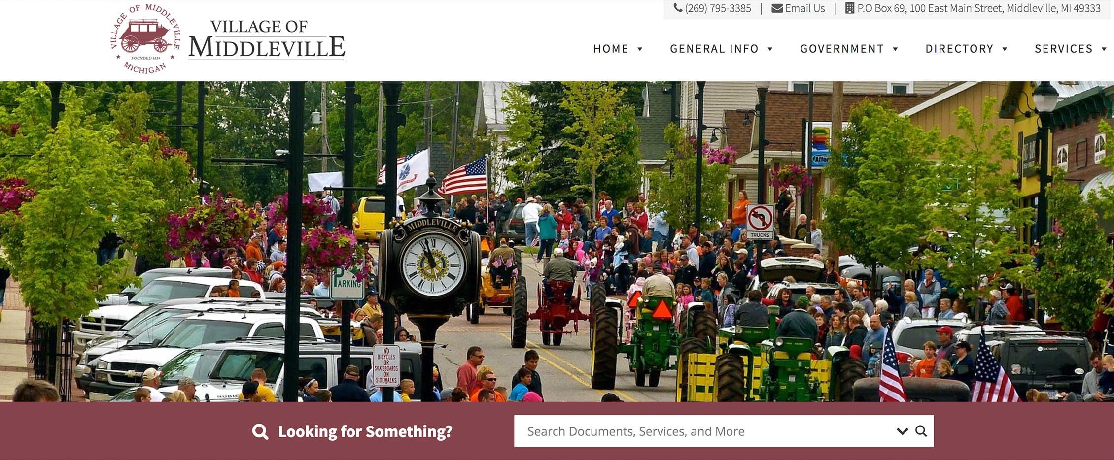 Website design village of middleville mi