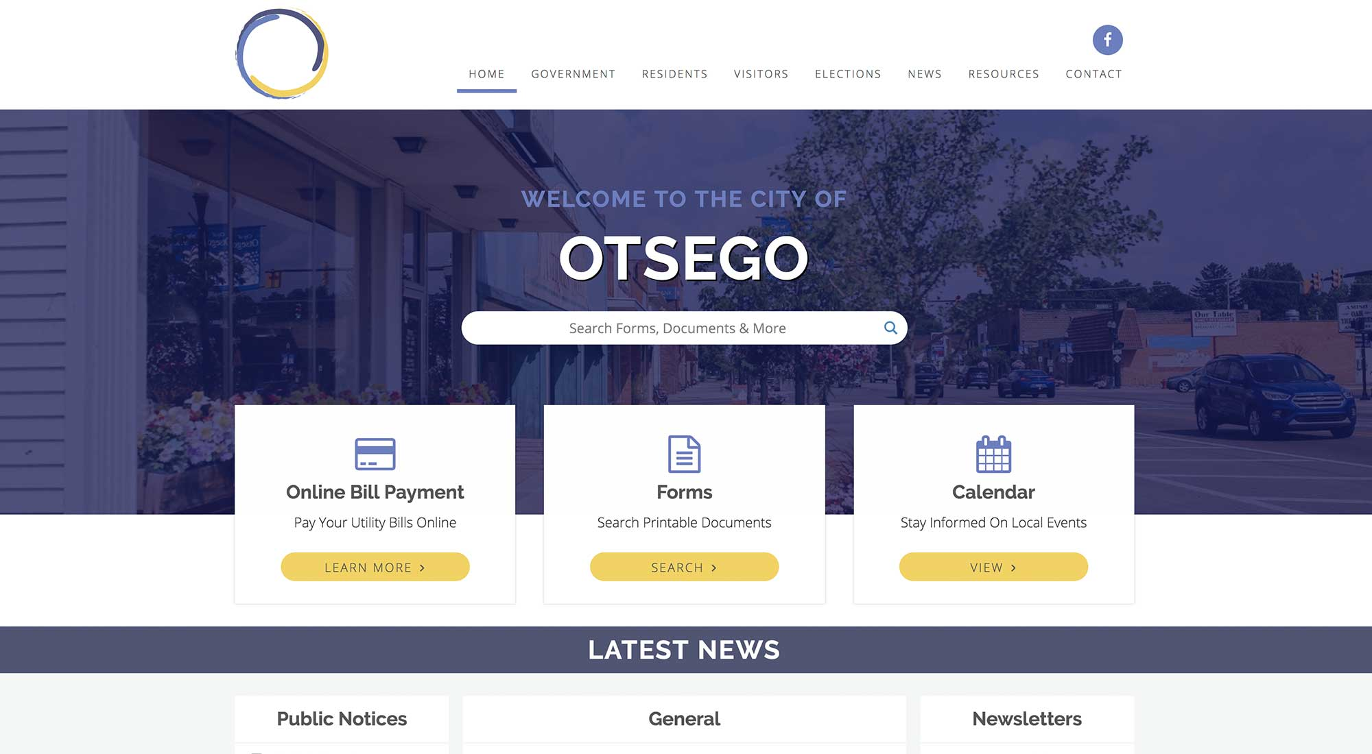 City of Otsego Mi Website Design