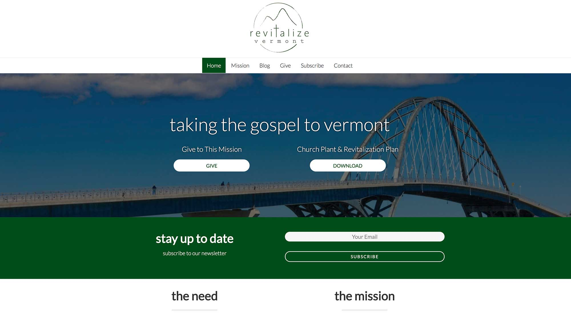 revitalize vermont website design