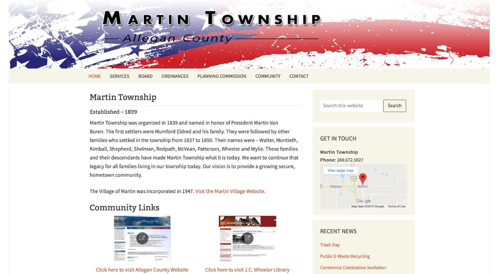 Martin Township in Allegan County