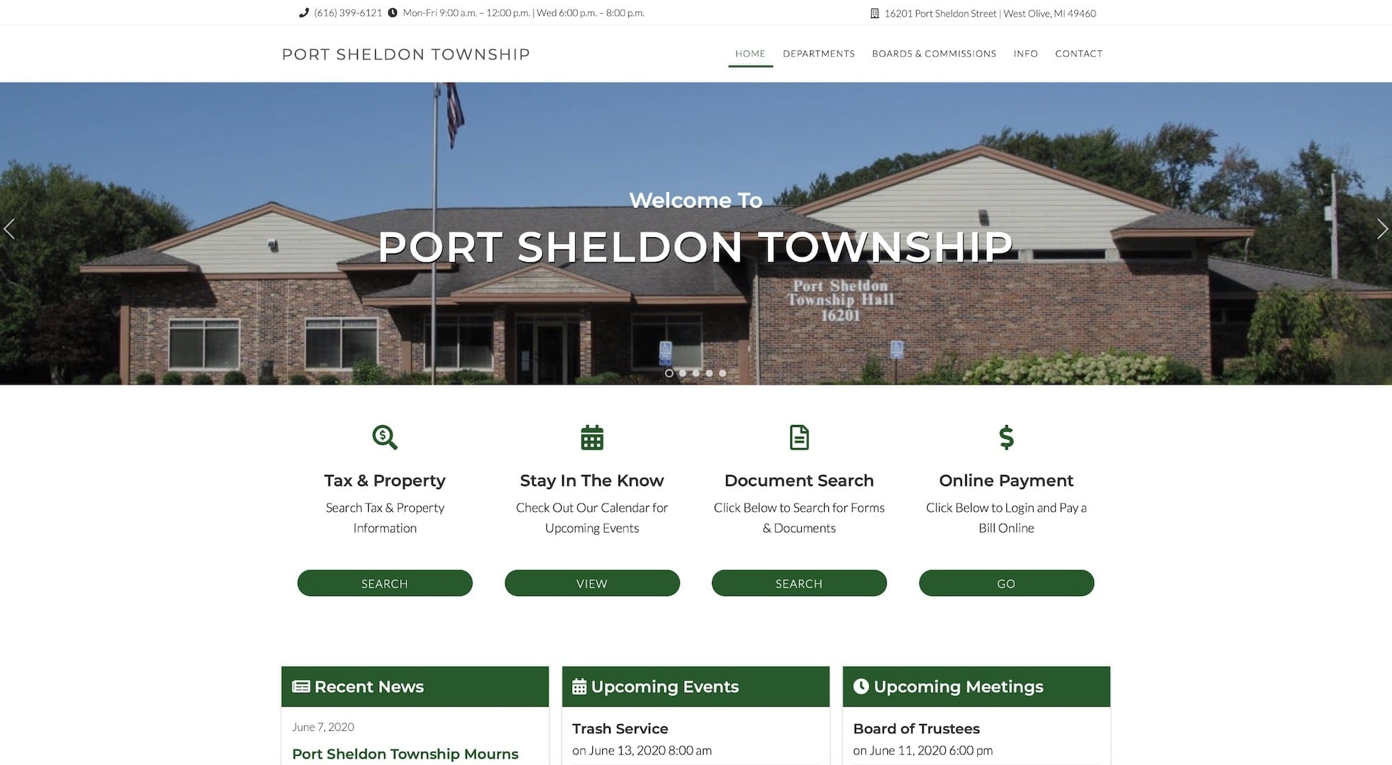 Port Sheldon Township Michigan