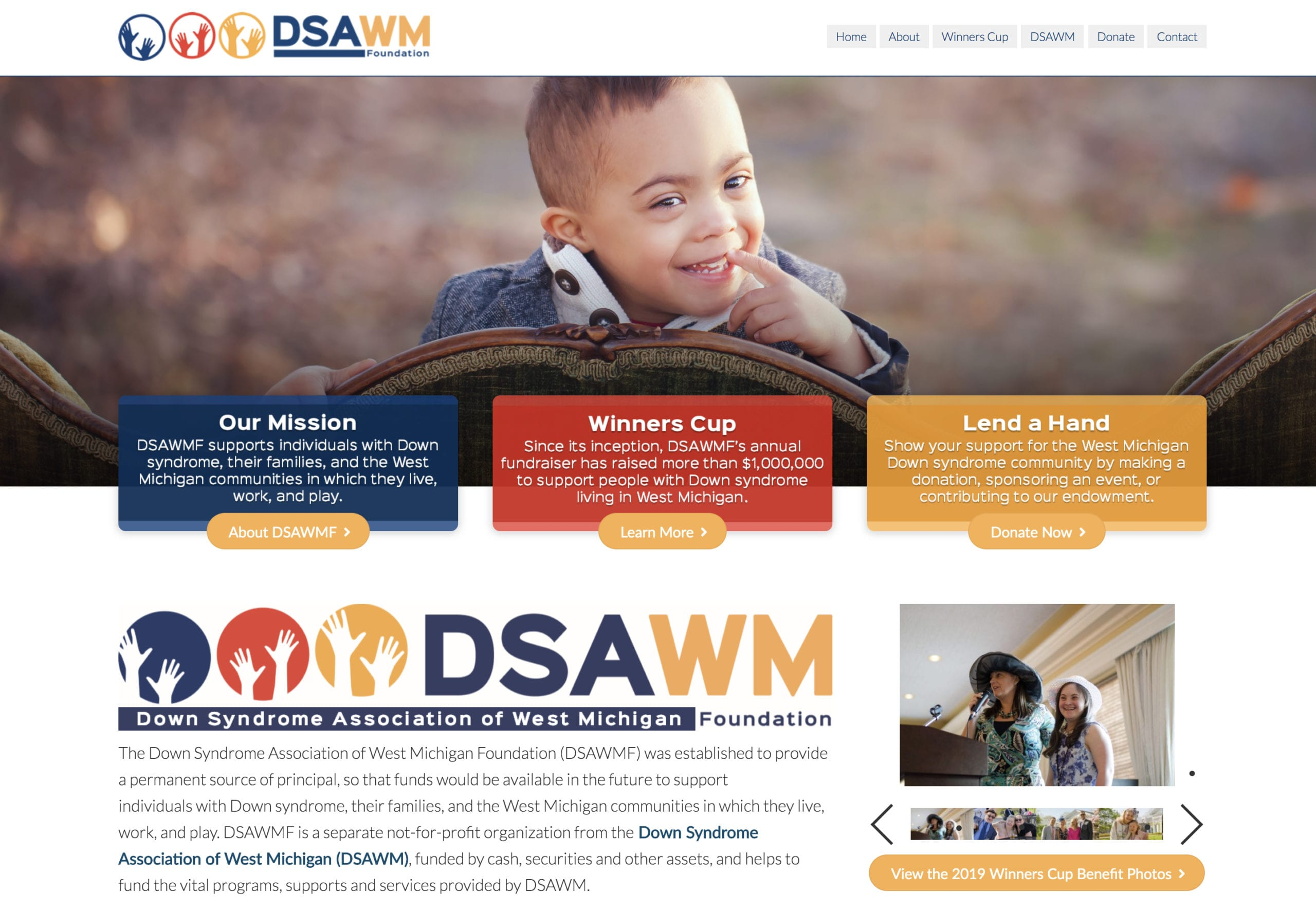 Down Syndrome Association of West Michigan Website